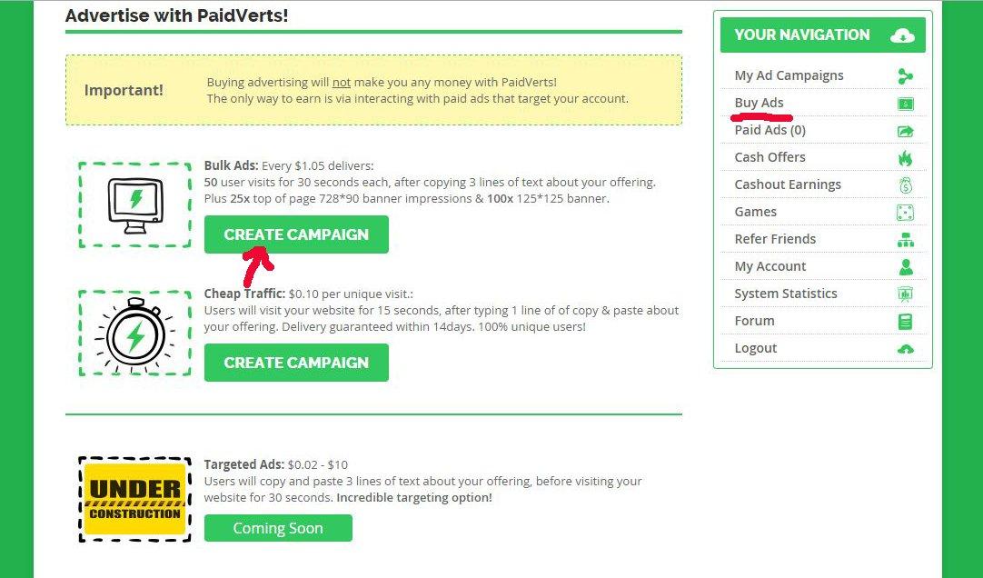 PaidVerts-pokypka reklamu