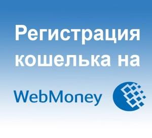 Регистрация кошелька на WebMoney